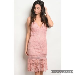 NEW Lace Pink Dress